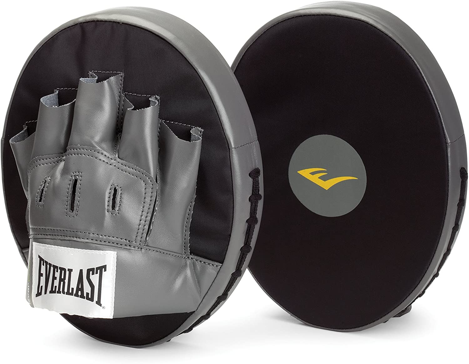 CURVED Meister MMA Boxing Pads NEW PAIR LEATHER FOCUS MITTS w// WRIST SUPPORT